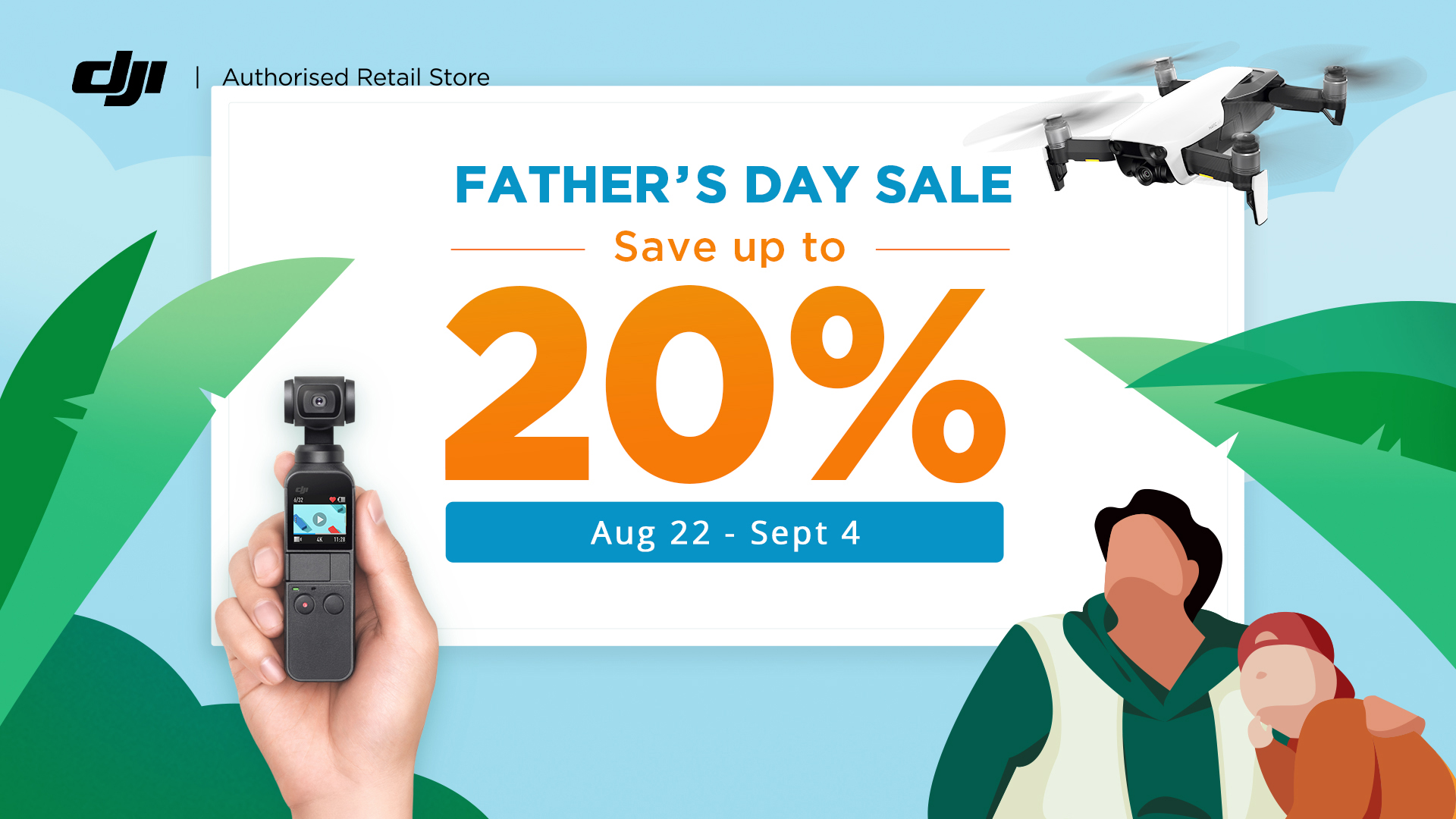 Father's Day Sale 2019 - Save up to 20%!